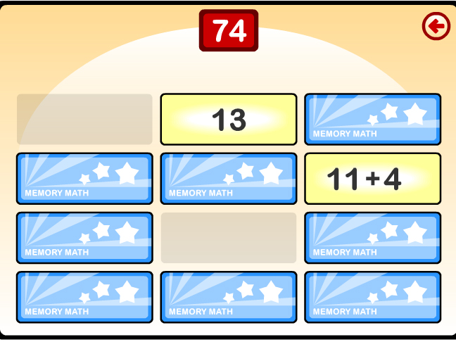 Memory Math Screenshot
