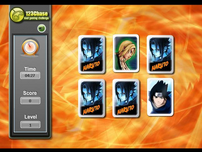 Naruto Memory Match Screenshot